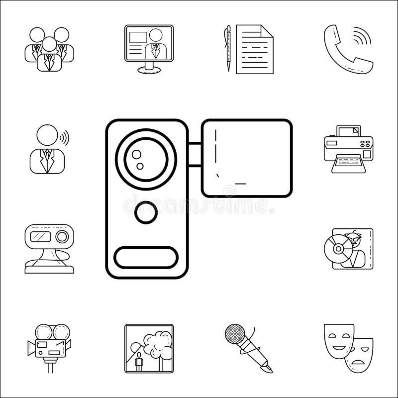 cameraicon video manual Grupo universal dos ícones dos meios para a Web e o móbil ilustração stock