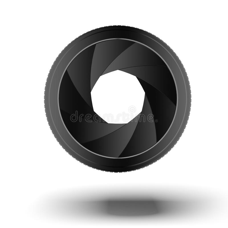 Cameralens.  Diafragma stock illustratie