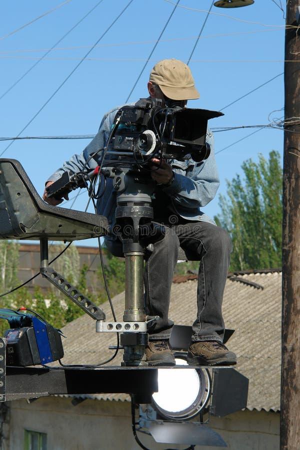 cameraman arkivfoton