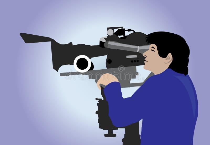 Cameraman illustration libre de droits