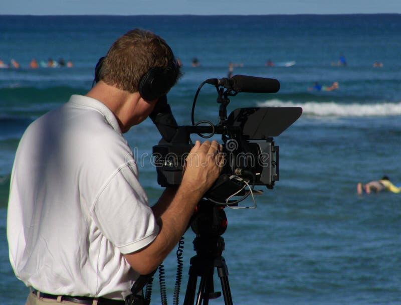 Cameraman royalty-vrije stock afbeelding