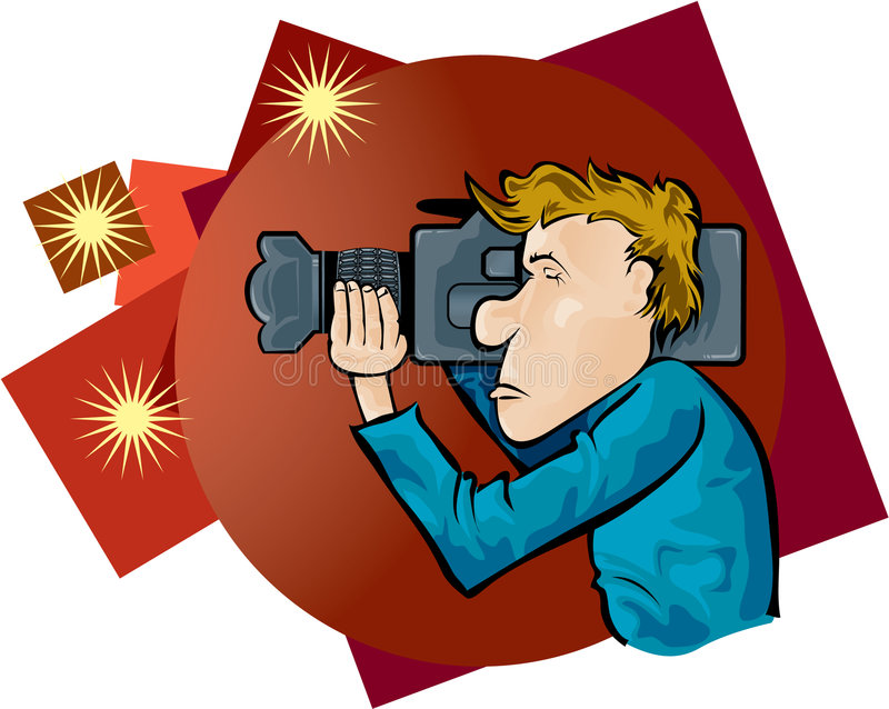 Cameraman illustration stock