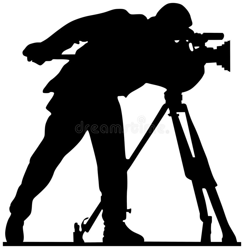 Cameraman illustration de vecteur