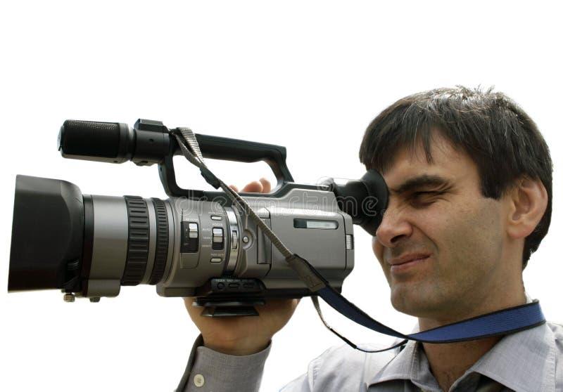 Cameraman royalty-vrije stock afbeeldingen