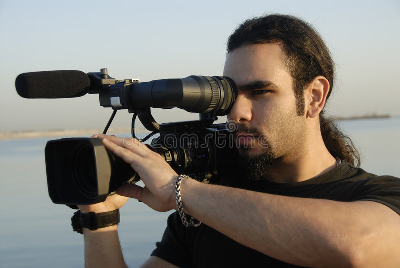 Cameraman image libre de droits