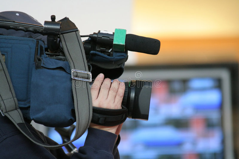 Download Cameraman stock image. Image of coverage, reporter, newscast - 577641