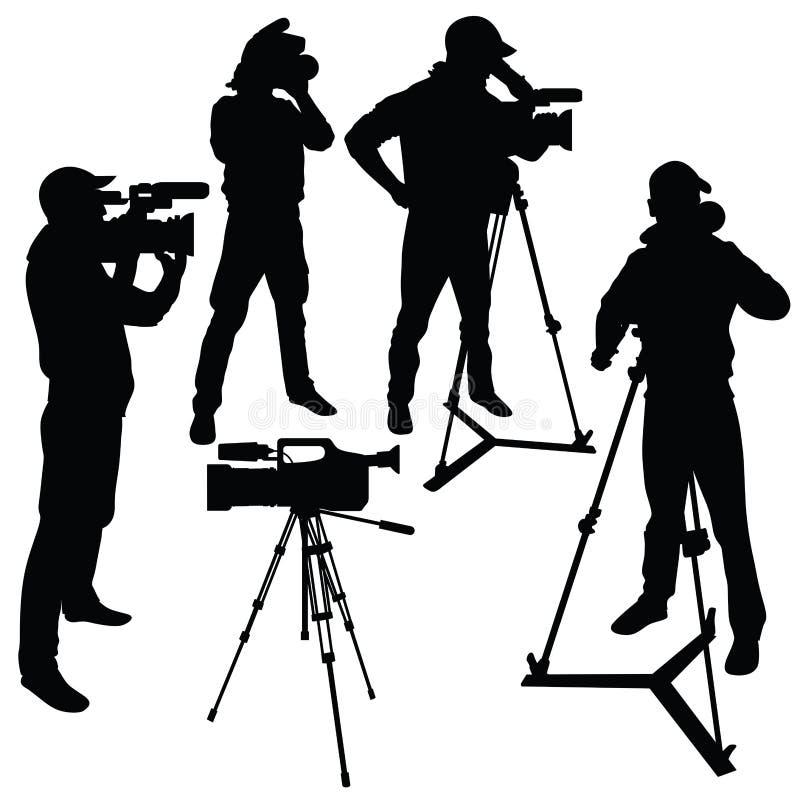 cameraman ilustração stock