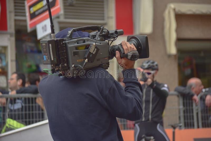 cameraman foto de archivo