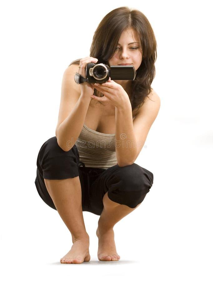 Cameraman de cinéma image stock
