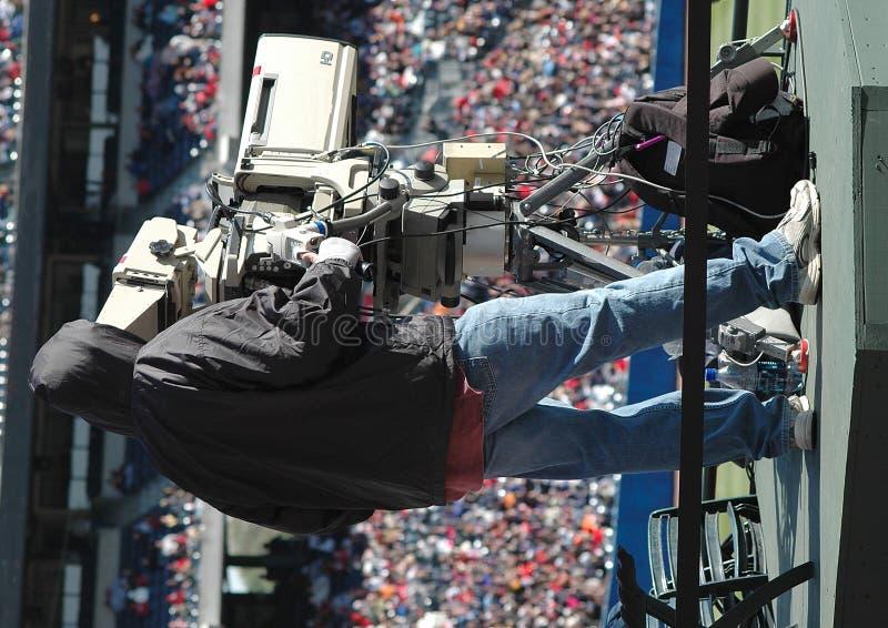 Cameraman de la televisión fotografía de archivo