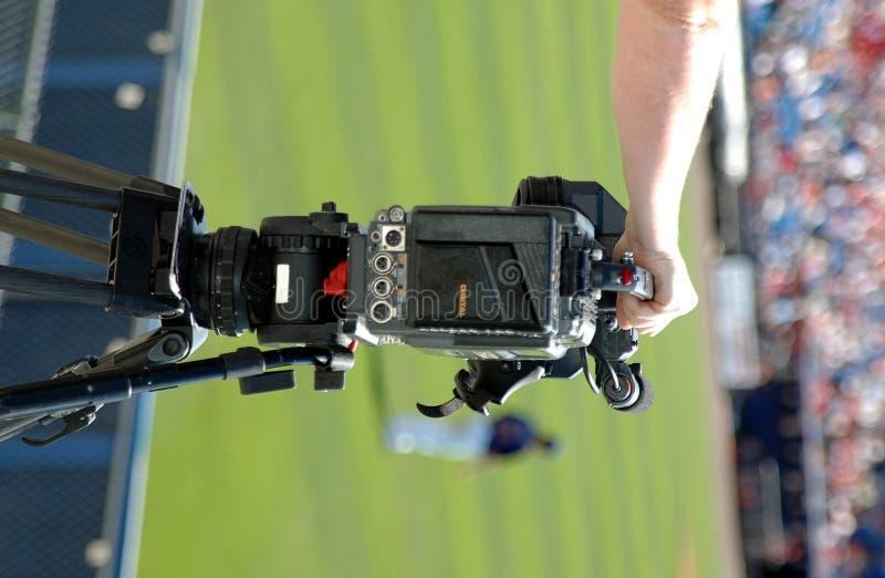 Cameraman de las noticias foto de archivo libre de regalías
