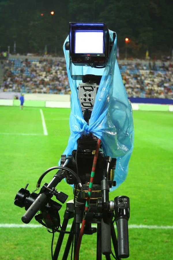 Cameraman en el estadio imagenes de archivo