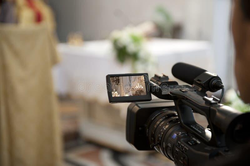 Cameraman Et Mariage Image stock