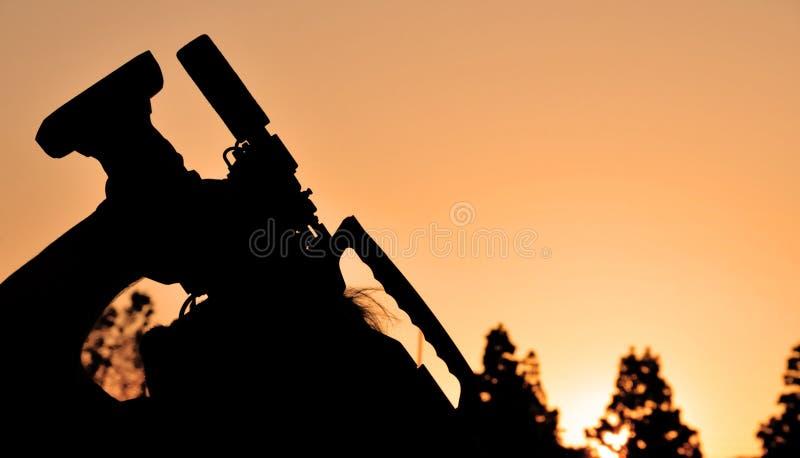 Download Cameraman Filming at Dusk stock image. Image of film, dusk - 5219019