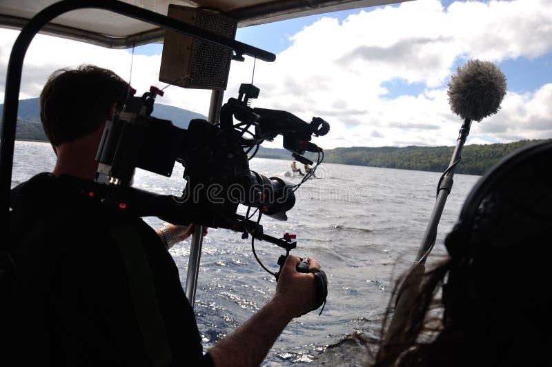 Cameraman op het werk stock foto's