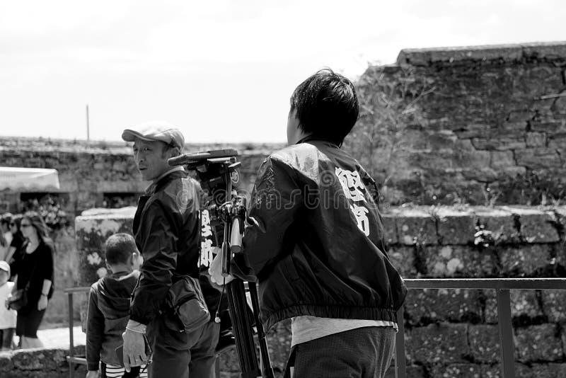 Cameraman outdoors royalty free stock photo