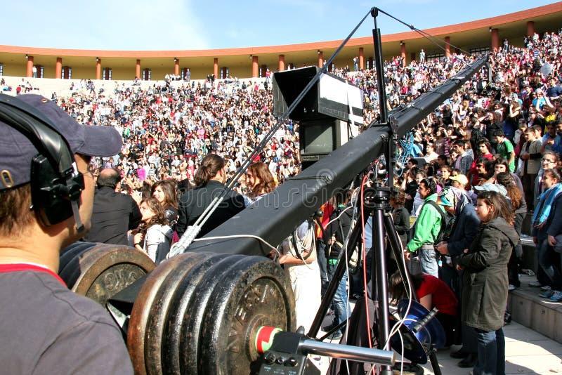 cameramanprofessionell arkivbild