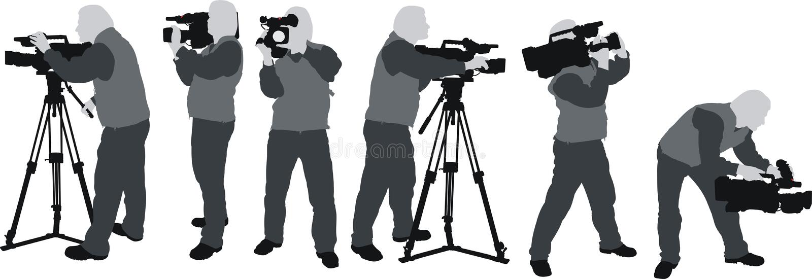 Download Cameramans silhouettes stock vector. Illustration of equipment - 18828704