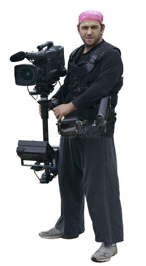 Cameramn ha isolato fotografia stock libera da diritti