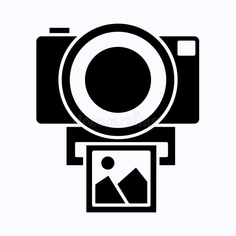 Camerapictogram, de vlakke ge?soleerde vector van de fotocamera Het moderne eenvoudige teken van de momentopnamefotografie Het on royalty-vrije stock foto's