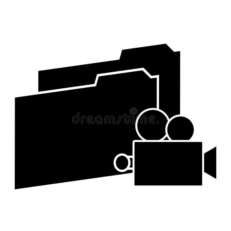 Camerapictogram met omslagen op witte achtergrond Vector illustratie vector illustratie