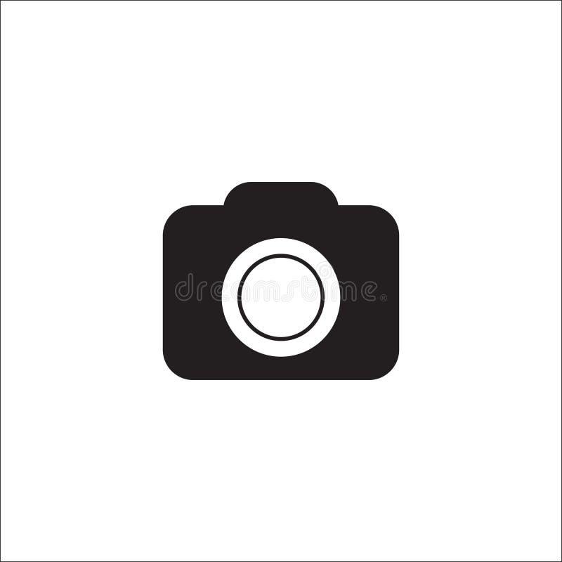 Camerapictogram in in vlakke die stijl op witte achtergrond wordt ge?soleerd Camerasymbool voor uw websiteontwerp, embleem, app,  stock illustratie