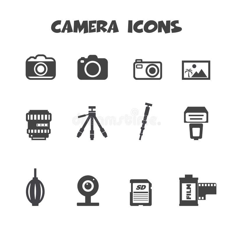 Camerapictogrammen vector illustratie