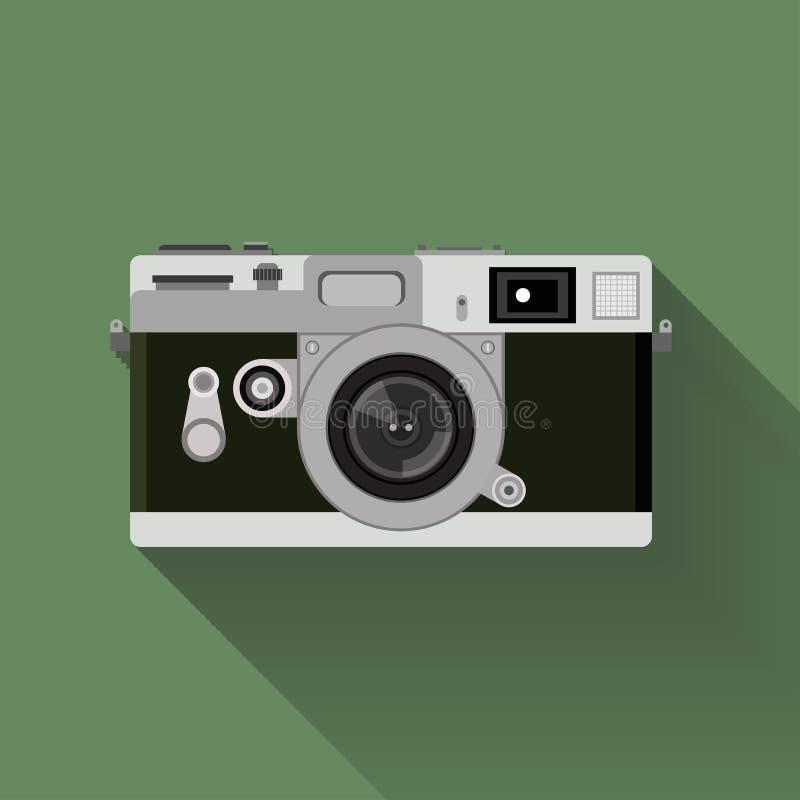 Camerareeks vlak grafisch uitstekend camerasymbool royalty-vrije stock afbeelding