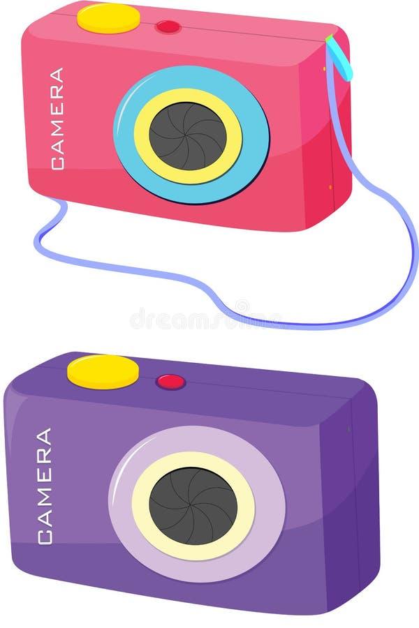 Cameras. Illustration of two cameras on white vector illustration