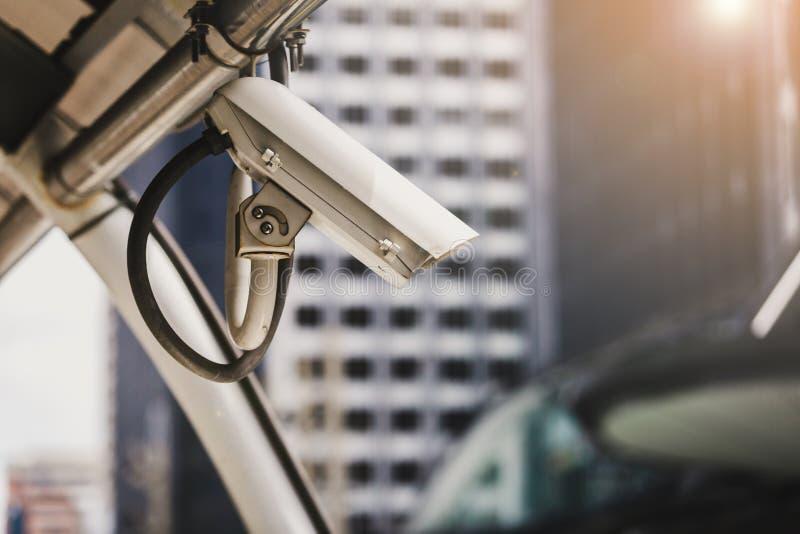 Cameras or CCTV. Digital security cameras or CCTV spy in city stock photo