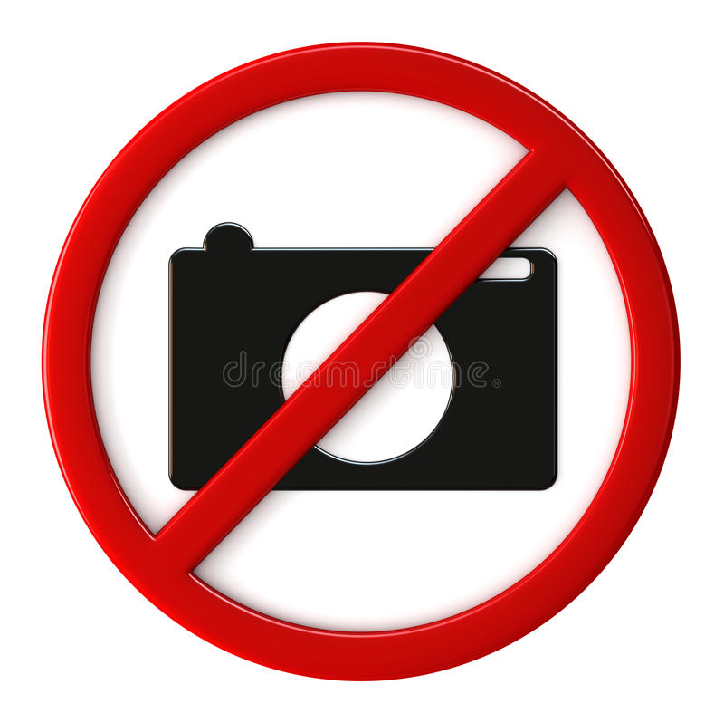 Cameras not allowed stock illustration