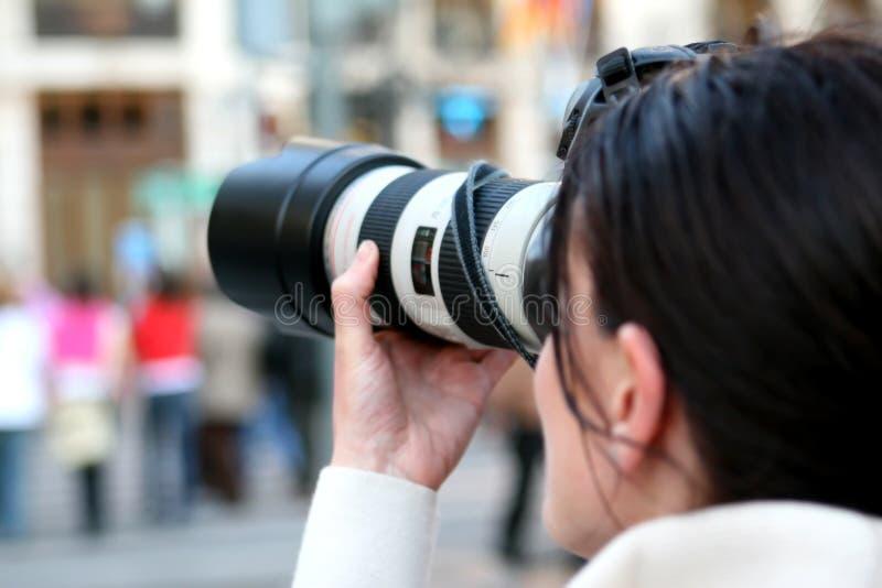Cameras & Optics, Photographer, Single Lens Reflex Camera, Camera Lens royalty free stock image