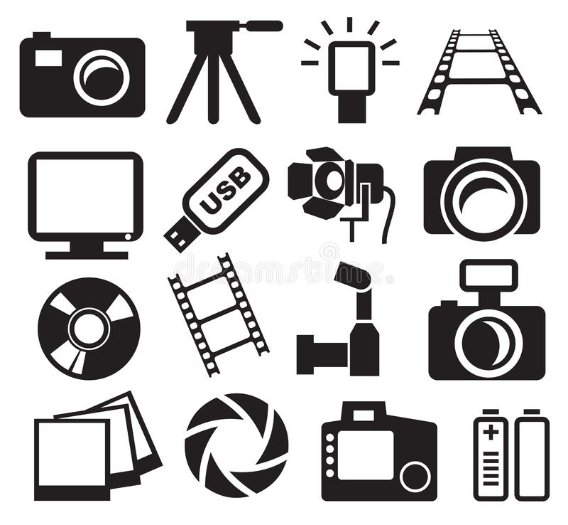 Download Cameras set stock vector. Image of body, digital, contour - 24805522