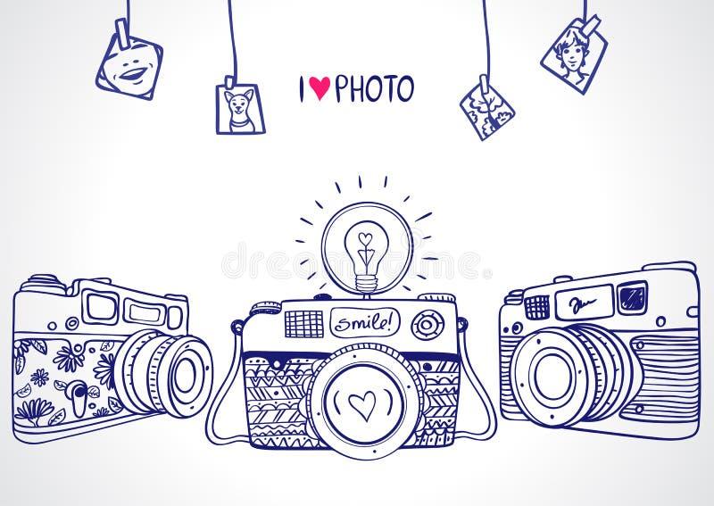 Camerasilhouet vector illustratie