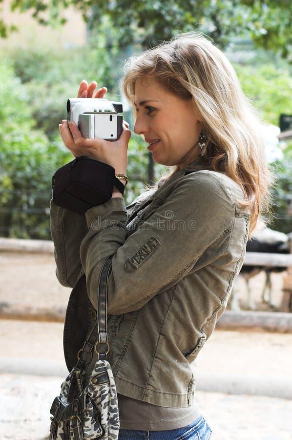 camerawoman 免版税库存图片