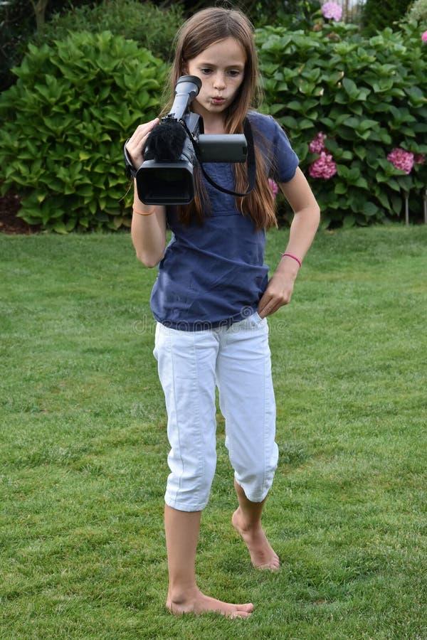 camerawoman imagem de stock