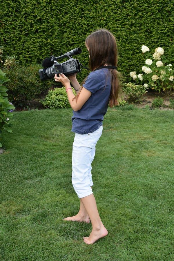 camerawoman stockbilder