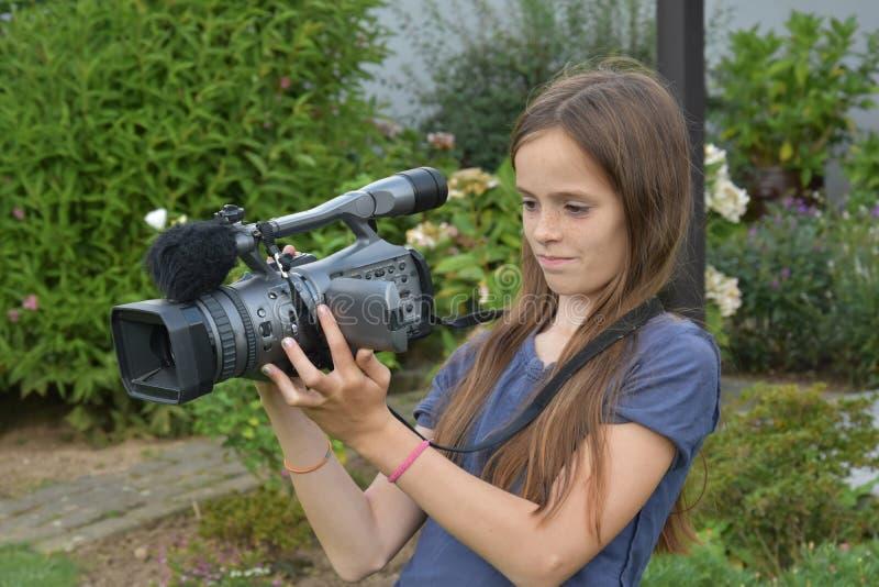 camerawoman fotografie stock libere da diritti