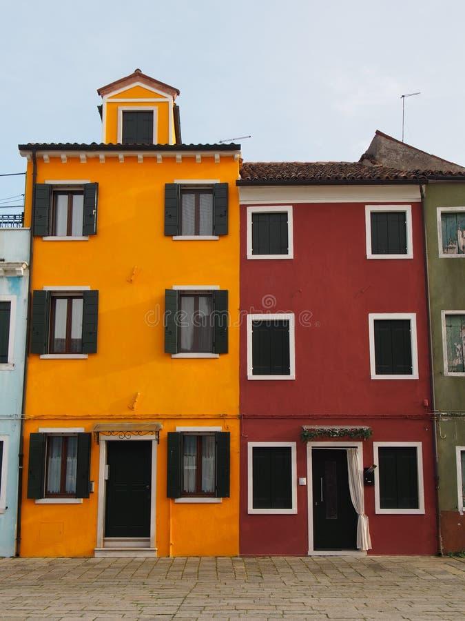 Camere in Burano fotografia stock