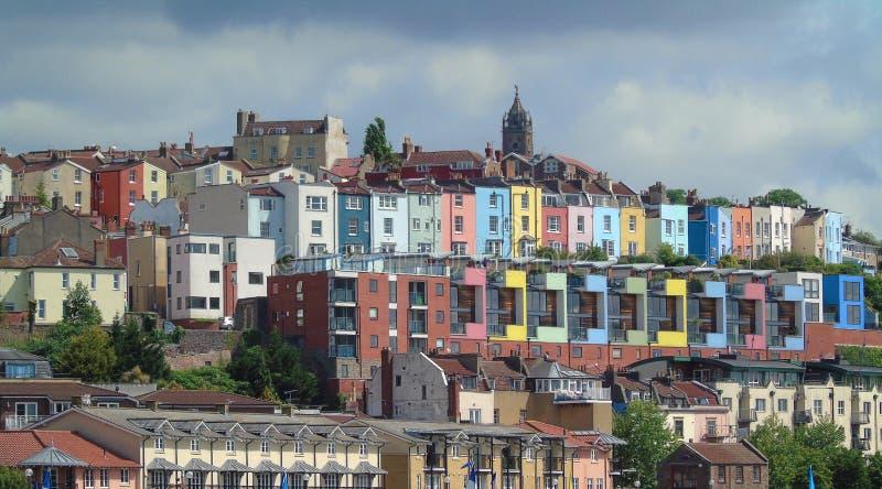 Camere Colourful, Bristol Harbourside, Inghilterra immagini stock libere da diritti