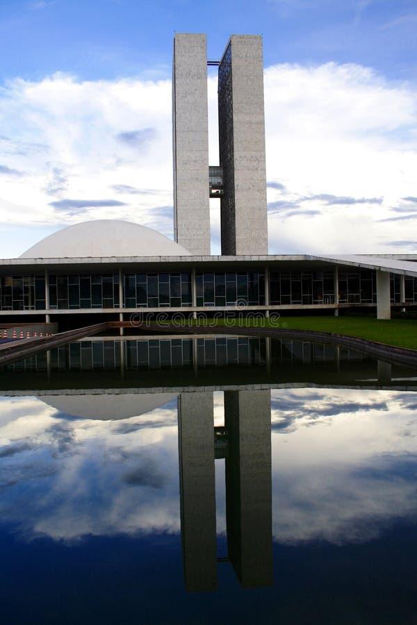 Camere del Parlamento a Brasilia D.F. fotografia stock libera da diritti