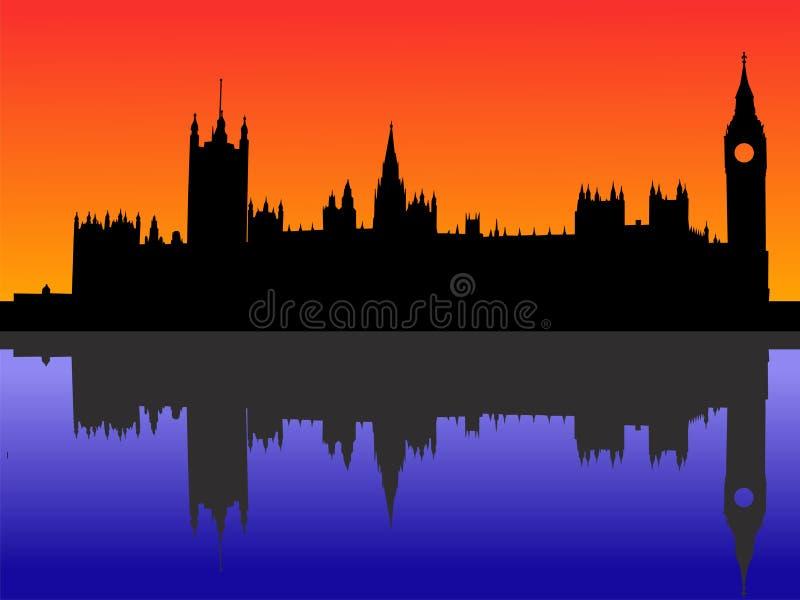 Camere del Parlamento Londra illustrazione vettoriale