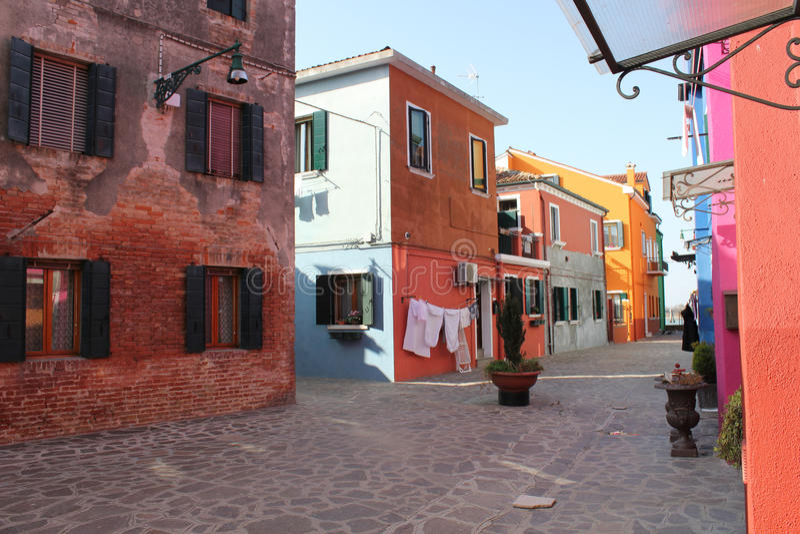 Camere di Burano Venezia Italia fotografia stock libera da diritti