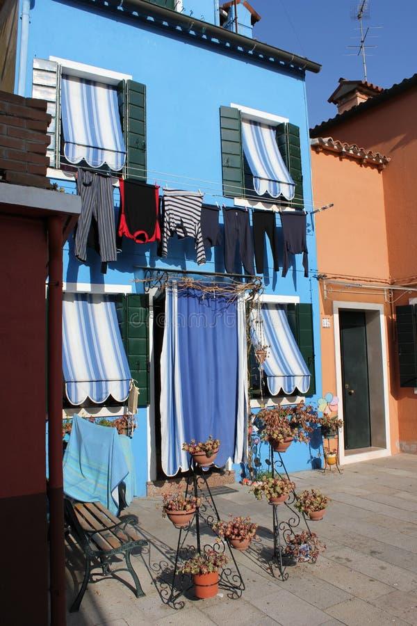 Camere di Burano Venezia Italia immagine stock libera da diritti