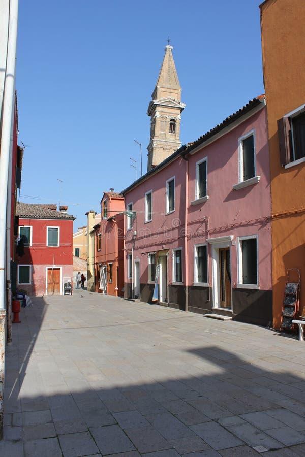 Camere di Burano Venezia Italia immagini stock libere da diritti