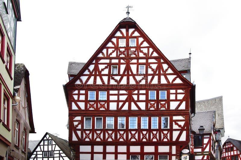 Camere di Fahverk sul quadrato del mercato (Marktplatz) Fritzlar fotografia stock libera da diritti