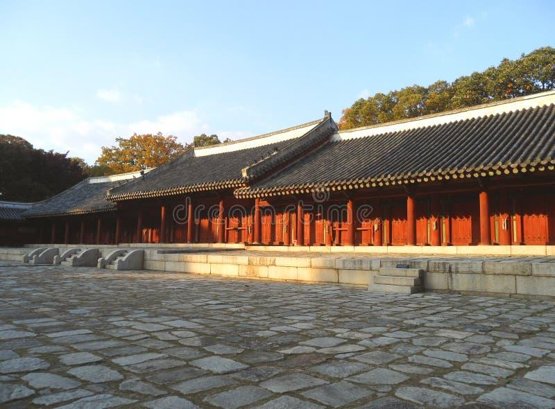 Camere di spirito del santuario di Jongmyo, patrimonio mondiale dell'Unesco a Seoul fotografie stock libere da diritti