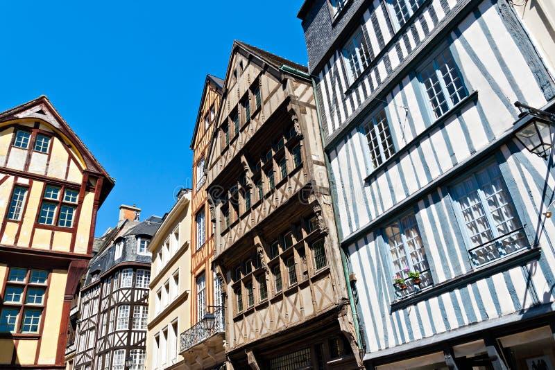 Camere Half-Timbered a Rouen fotografia stock