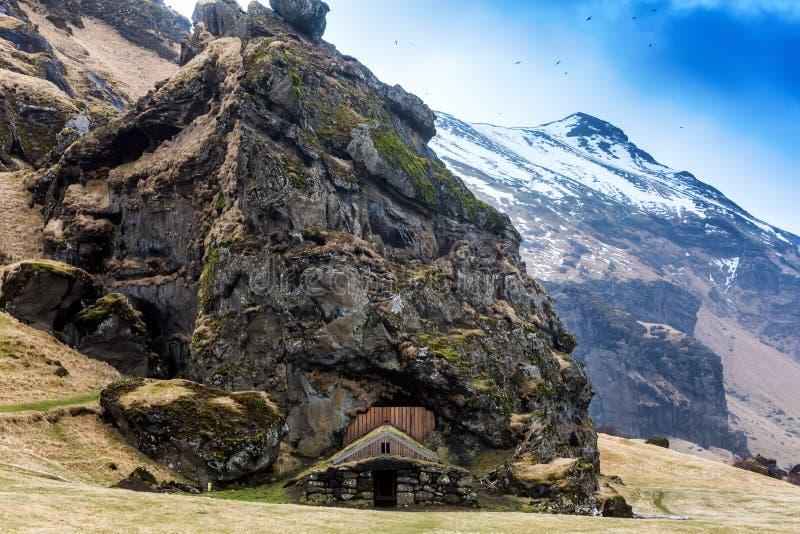 Camere islandesi tradizionali del tappeto erboso immagini stock libere da diritti