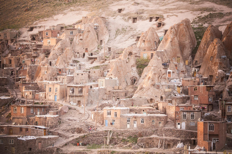 Camere in Kandovan, Iran fotografie stock